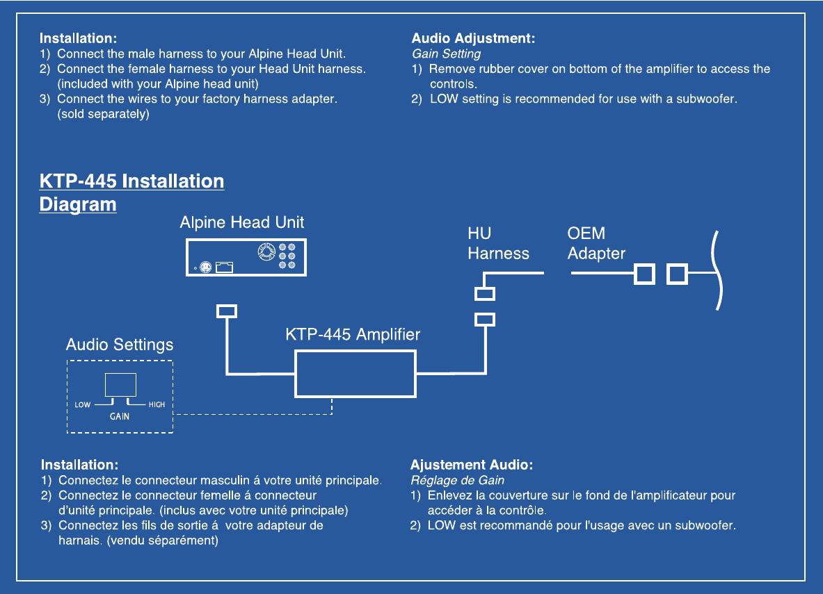 hight resolution of alpine ktp 445 manualalpine ktp 445 wiring diagram unit 9