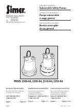 Simer Pumps 2305-04 manuals