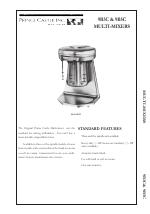 Prince Castle MULTI-MIXER 9B5C manuals
