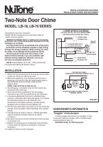 NuTone TWO-NOTE DOOR CHIME LB-76 manuals