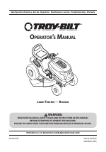 Troy-Bilt Bronco manuals
