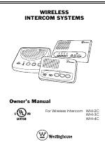 Westinghouse WHI-2C manuals