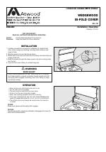 atwood WEDGEWOOD BI-FOLD COVER RW, CW manuals