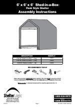 ShelterLogic 70401 6 x 6 x 6 Shed-in-a-Box manuals