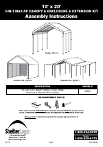 ShelterLogic 23532 10 x 20 Max AP Canopy 3-in-1 Pack manuals