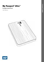 Western Digital My Passport Ultra User Manual manuals