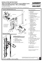 SARGENT 8200 Lever Lock manuals