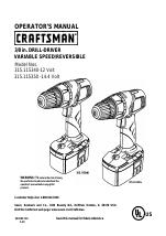 Craftsman 315.115340 manuals