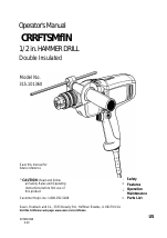 Craftsman 315.101360 manuals