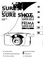 Canon Prima Super 105X manuals