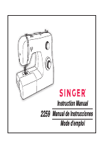SINGER 2259 TRADITION manuals