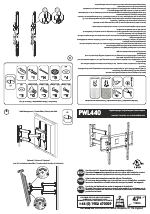 AVF Group PWL440: TV Wall Mount manuals