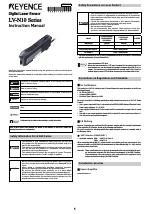KEYENCE LV-N10 Series manuals