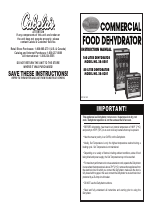 Cabela's Commercial Food Dehydrator 28-0501 manuals