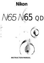 Nikon n65 manuals