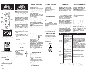 Ryobi EMTP006 manuals