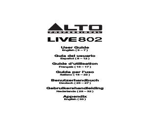 Alto Professional Live 1202 manuals