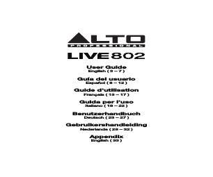 Alto Professional Live 1202 manuals