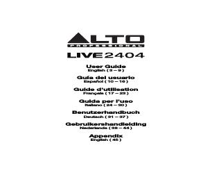 Alto Professional Live 1604 manuals