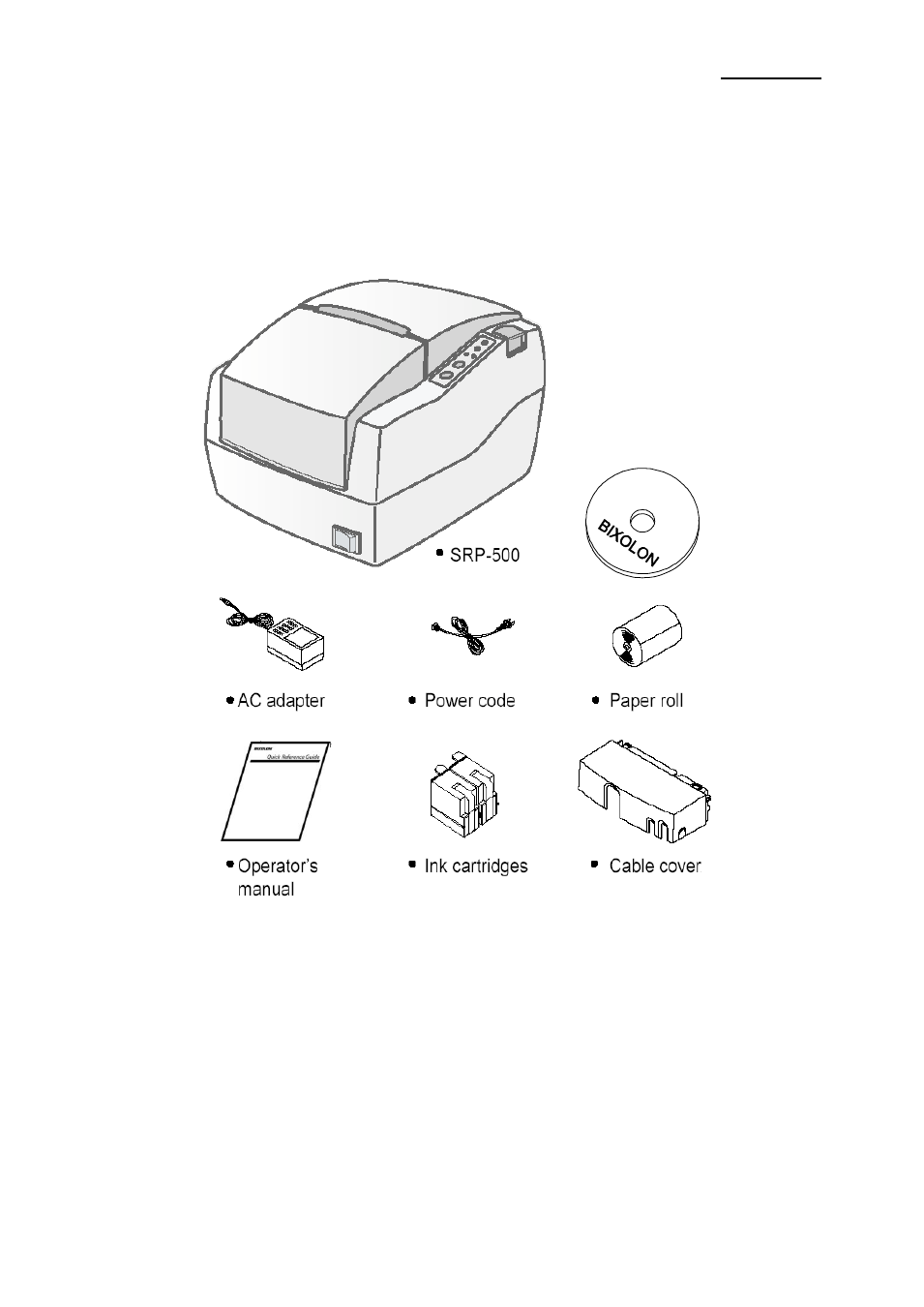 1 unpacking, Setting up the printer, Srp-500 1. setting up