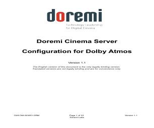 Doremi ShowVault / IMB manuals