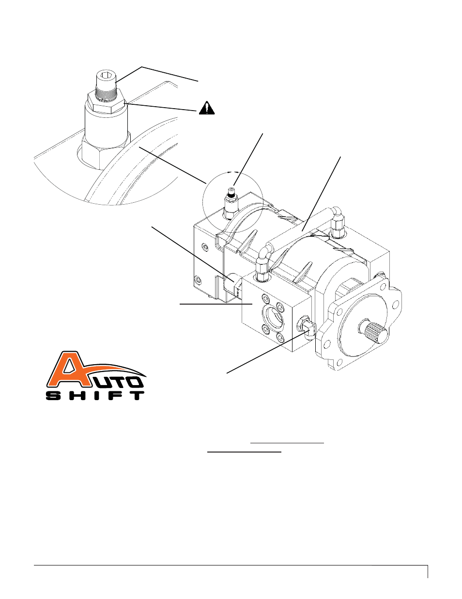 Two speed hydraulic motor information, Auto shift