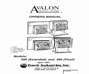 Avalon Firestyles 1196-1990 to 1993 manuals