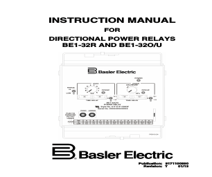 Basler Electric BE1-32R manuals