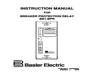 Basler Electric BE1-BPR manuals