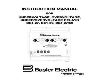 Basler Electric BE1-59 manuals