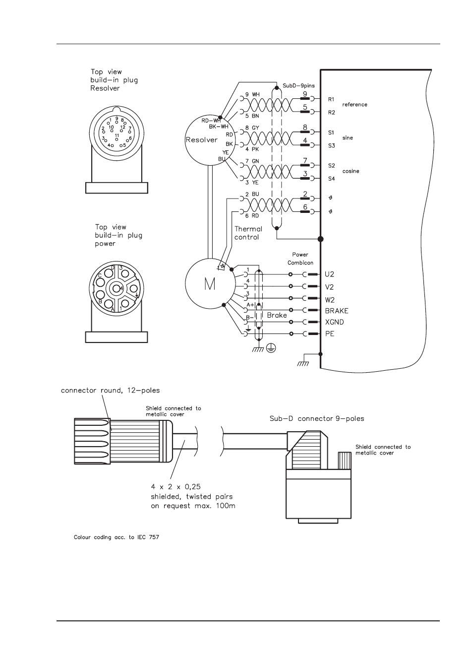 Iii.4 wiring diagram am227 with resolver, Wiring diagram