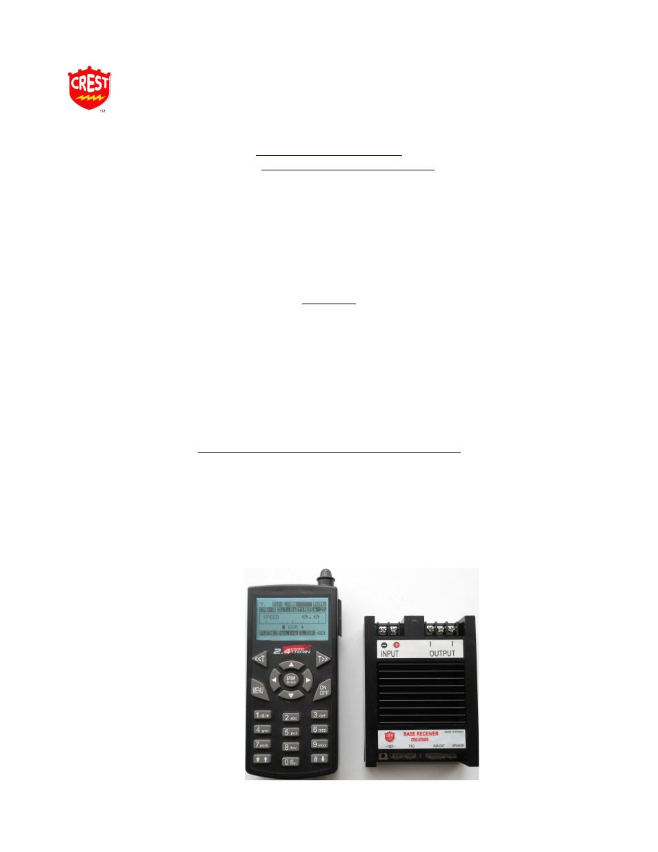 Crest Electronics Cre57005s Base Station Super Receiver User
