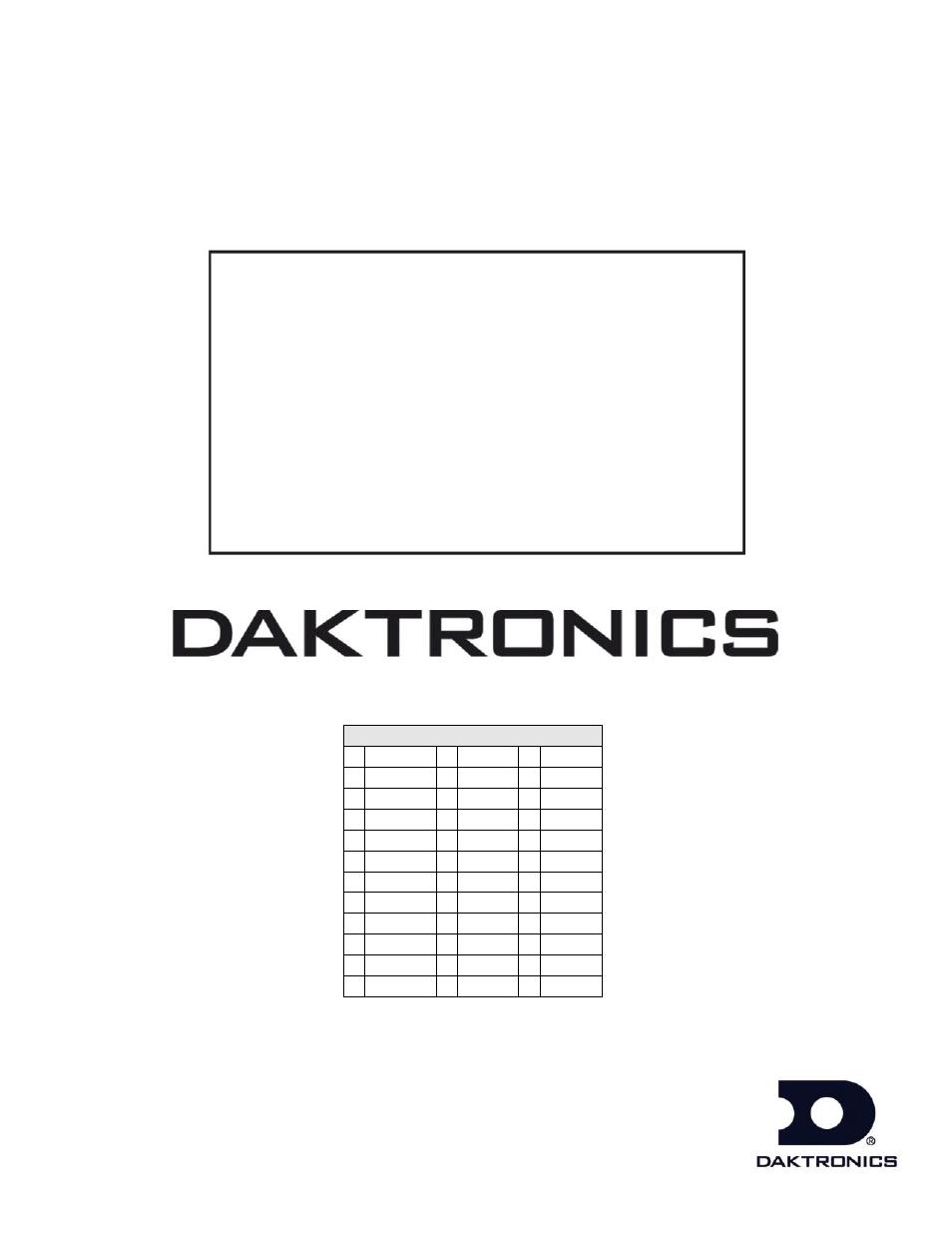 Daktronics BB-2101 Tuff Sport Basketball LED Scoreboard
