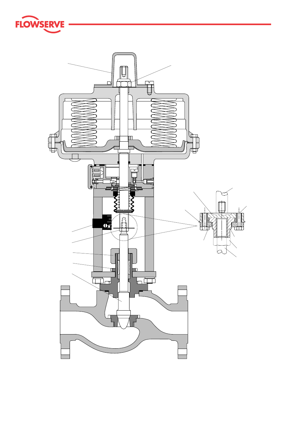Kammer control valves, Fig. 8: typical actuator and valve
