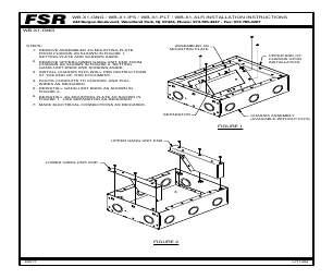 FSR WB-X2-PLT manuals