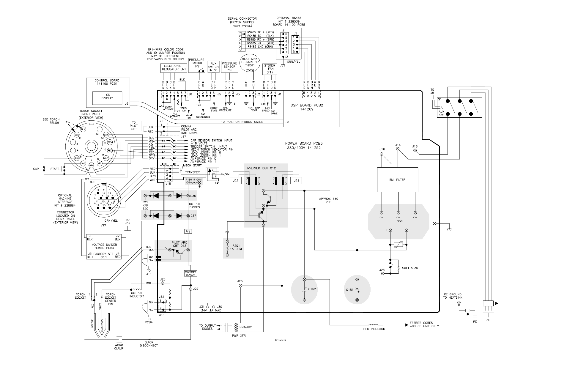 Schematic diagram (380 v ccc, 400 v ce), Schematic diagram