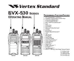Vertex Standard eVerge EVX-534 manuals