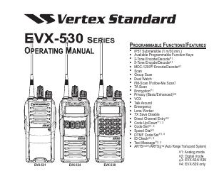 Vertex Standard eVerge EVX-534 manuals