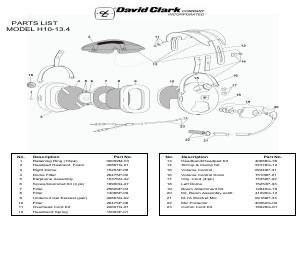 David Clark H10-13.4 manuals