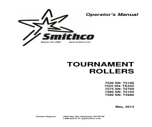 Smithco Tournament Roller Ultra Plus 7580 Operator Manual