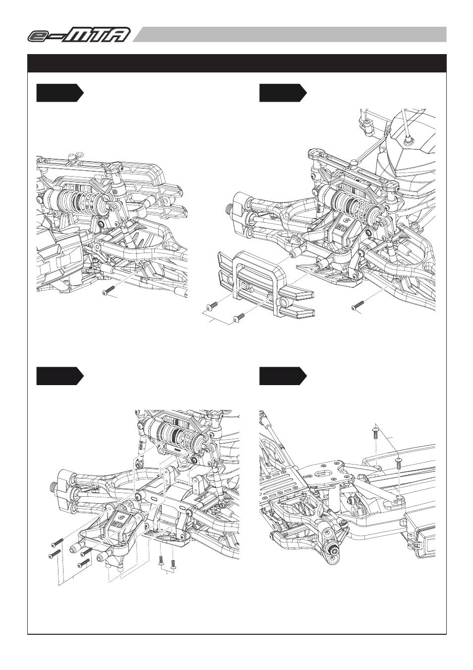 6403 p17.pdf, Front suspension maintenance, Step1 step3
