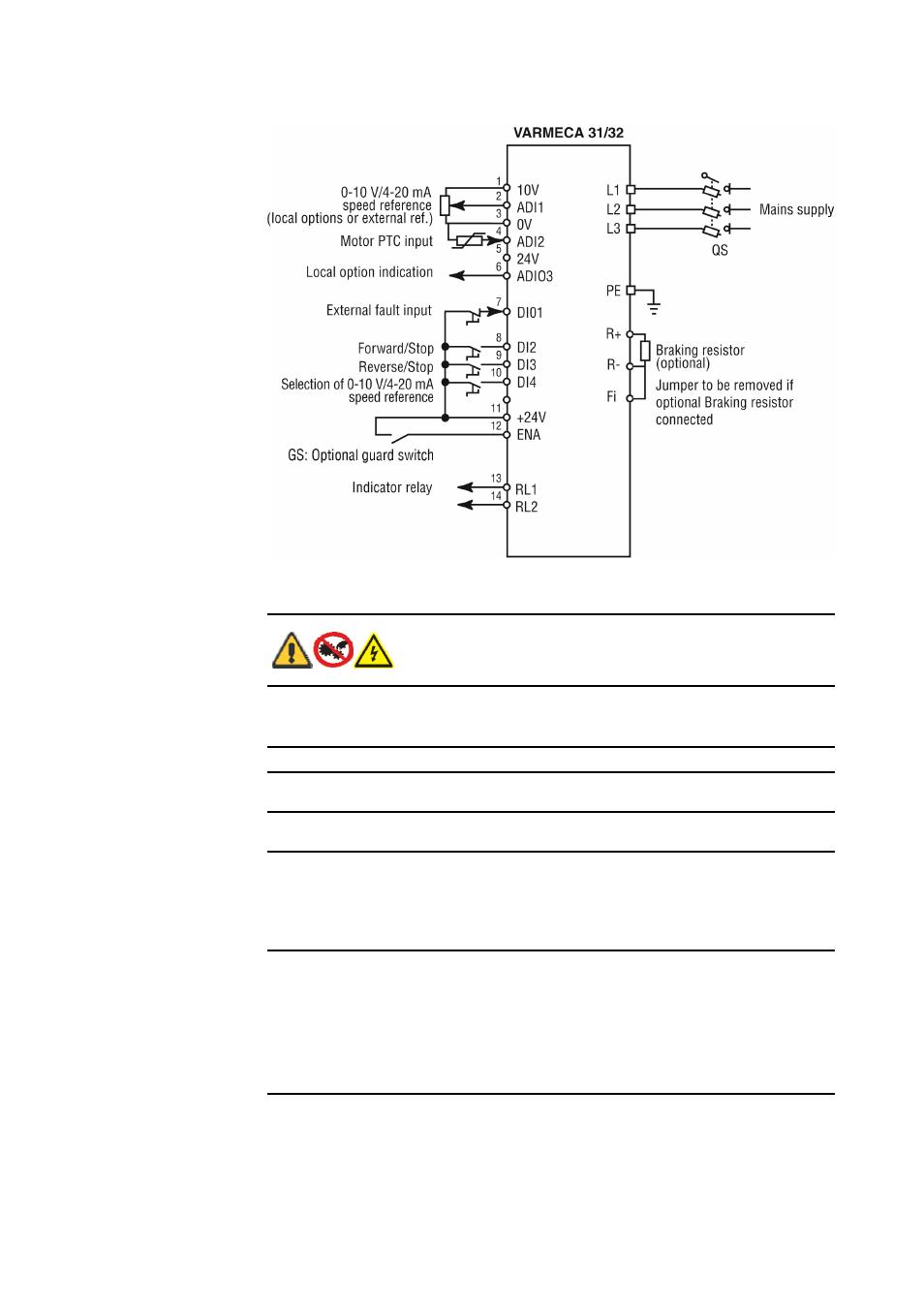medium resolution of 5 varmeca drives three phase connection diagram 6 varmeca drives keypad indicator light display watson marlow 621cc user manual