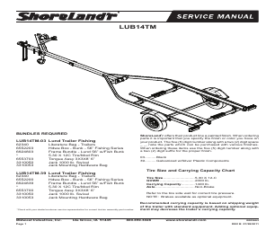 ShoreLand'r LUB14TM V.1 manuals