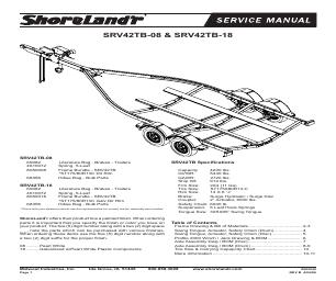 ShoreLand'r SRV42TB V.3 manuals