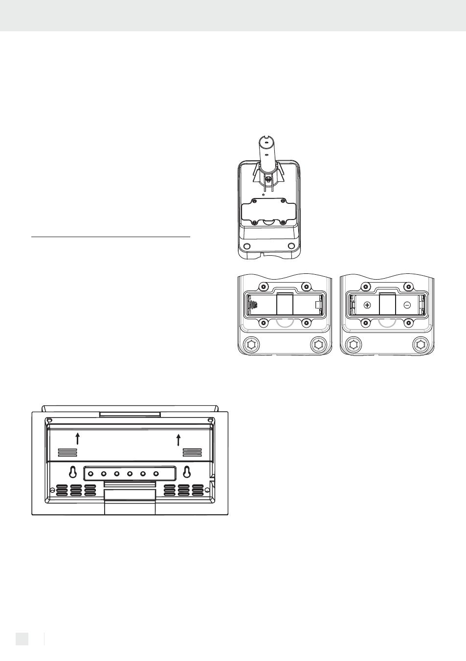 Uvedení do provozu / vložení a výměna baterií, Vložení a