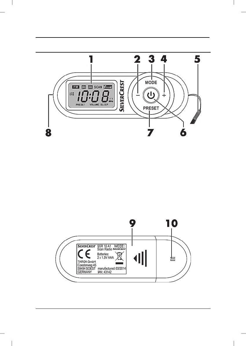 Elementos de mando y botones, Silvercrest ssr 10 a1 4