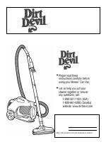 Dirt Devil Upright Bag Vacuum Cleaner manuals