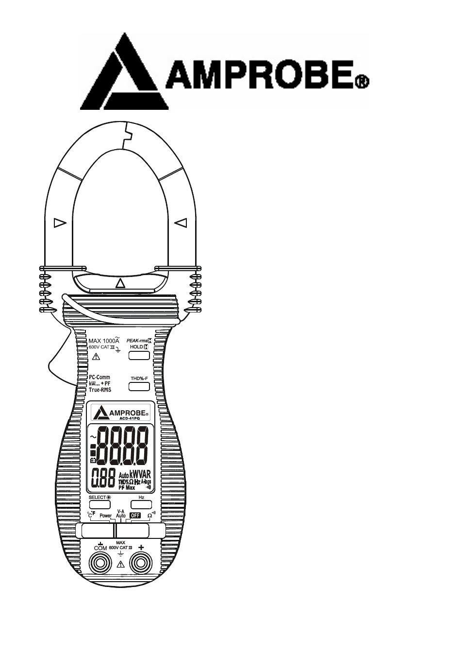AMPROBE ACD-31P PDF