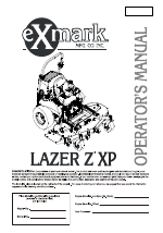 Exmark Lazer Z manuals