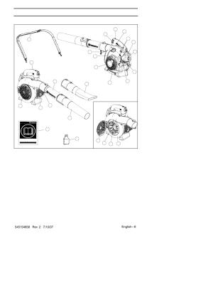 Description, The blower | Husqvarna 125B User Manual | Page 6  47